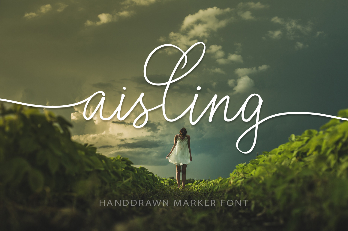 Print on Demand: Aisling Script & Handwritten Font By Red Ink