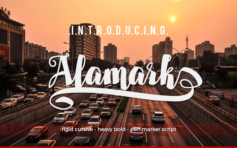 Print on Demand: Alamark Script & Handwritten Font By walkeren