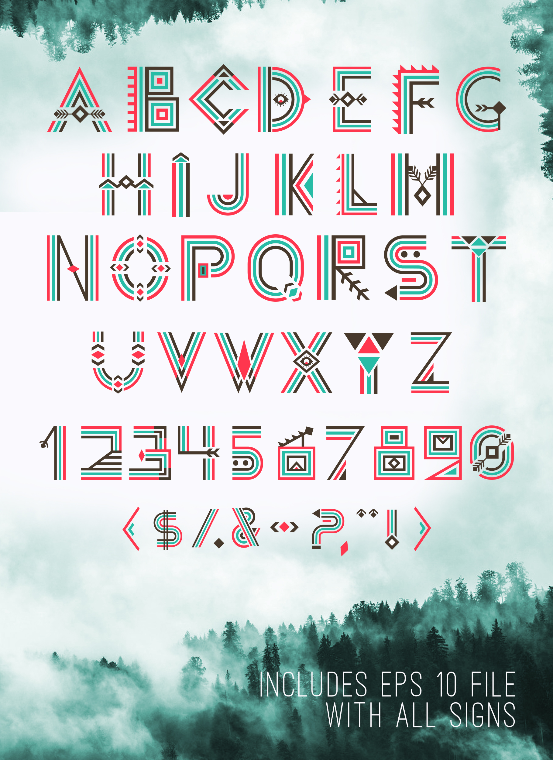 Print on Demand: Aleut Decorative Font By Peliken - Image 3