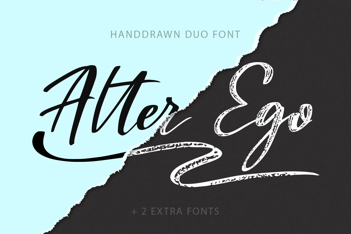 Alter Ego Duo Font Font By Red Ink