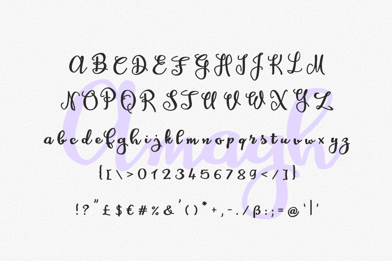 Print on Demand: Amagh Script & Handwritten Font By Eva Barabasne Olasz - Image 3