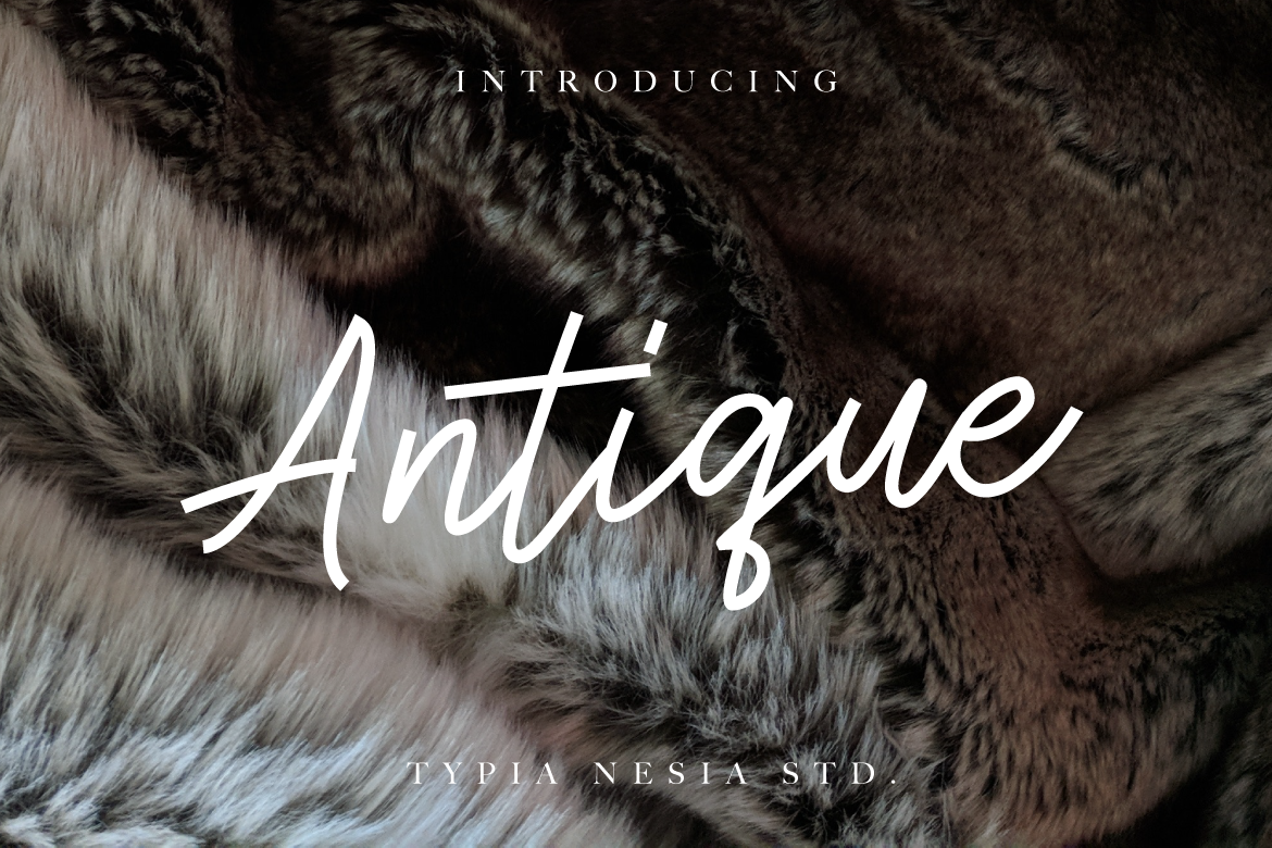 Print on Demand: Antique Script & Handwritten Font By Typia Nesia