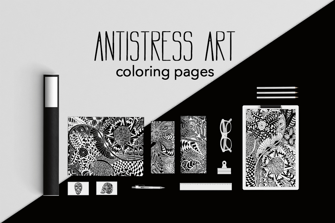 Print on Demand: Antistress Art | Coloring Pages Graphic Illustrations By InkandBrush