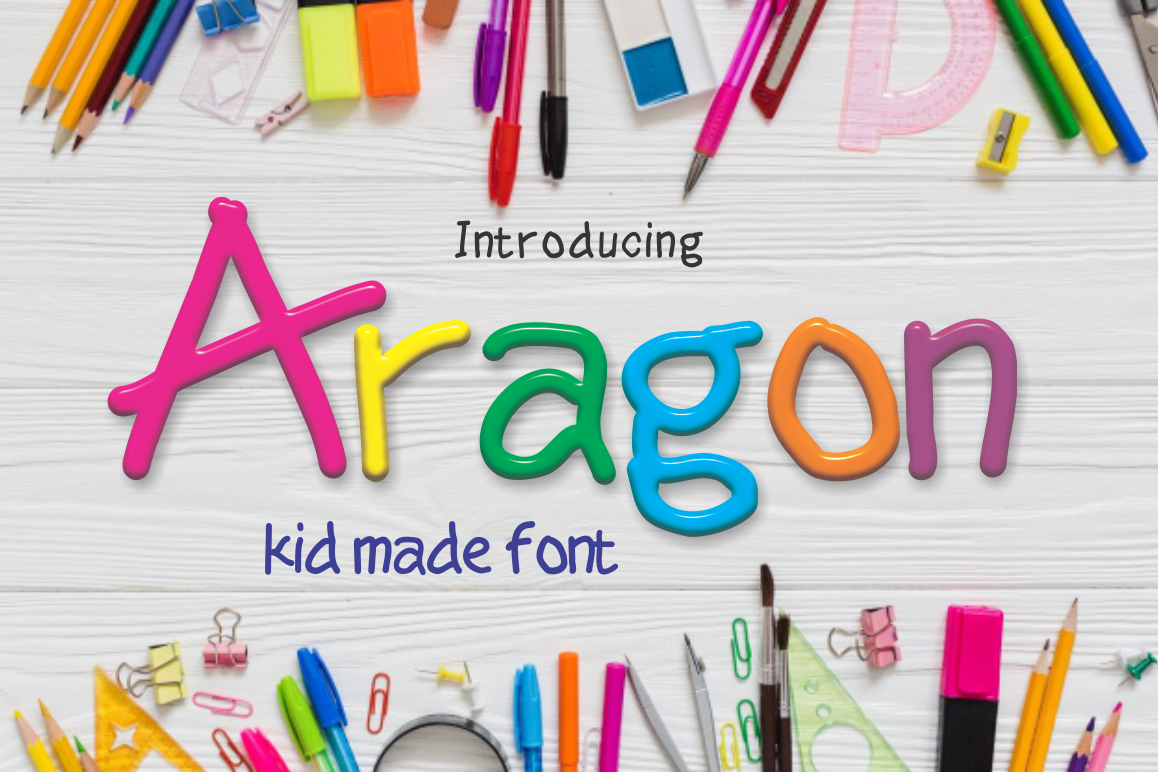 Print on Demand: Aragon Display Font By screen letter