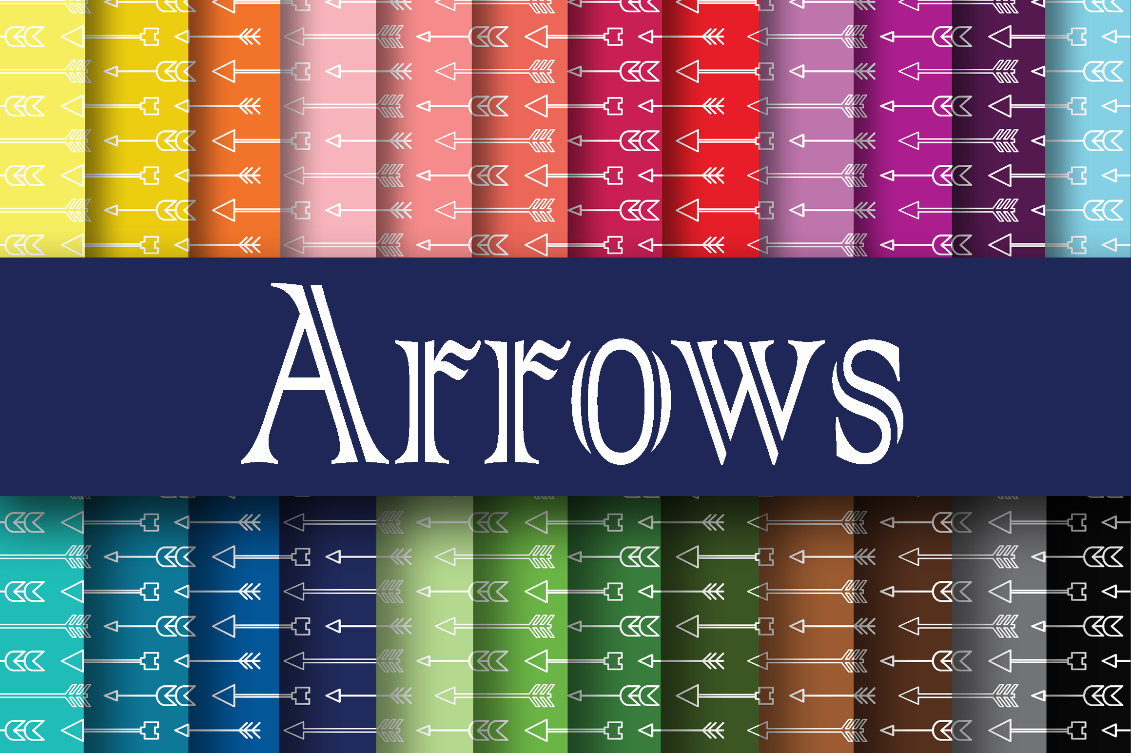 Arrows Digital Paper Graphic Backgrounds By oldmarketdesigns