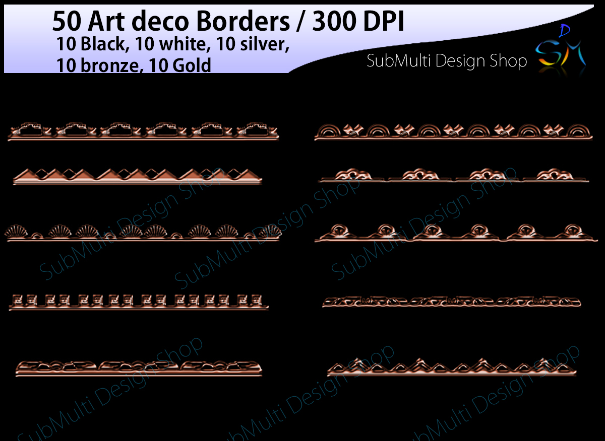 Print on Demand: Art Deco Borders Graphic Crafts By Arcs Multidesigns