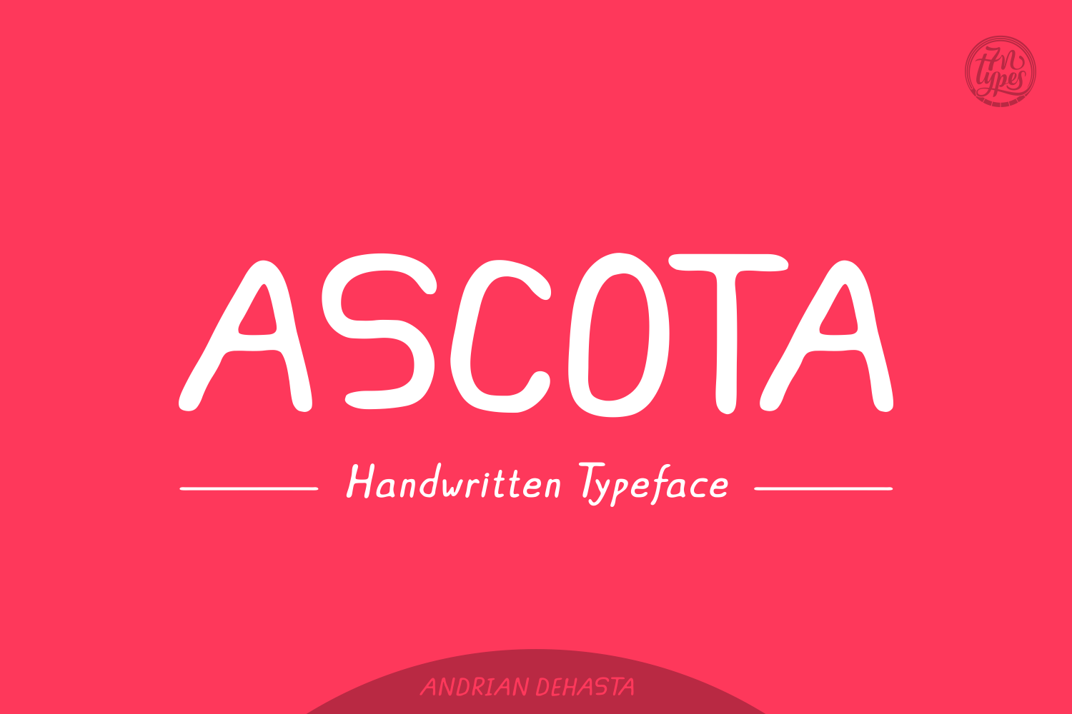Print on Demand: Ascota Script & Handwritten Font By Andrian Dehasta