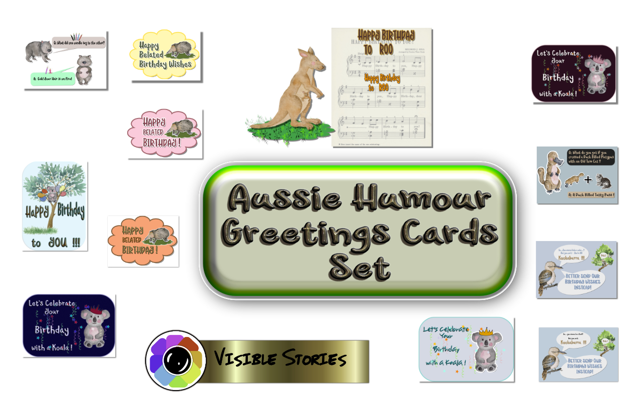 Aussie Humour Greetings Cards 1 Graphic By Angela H Evans