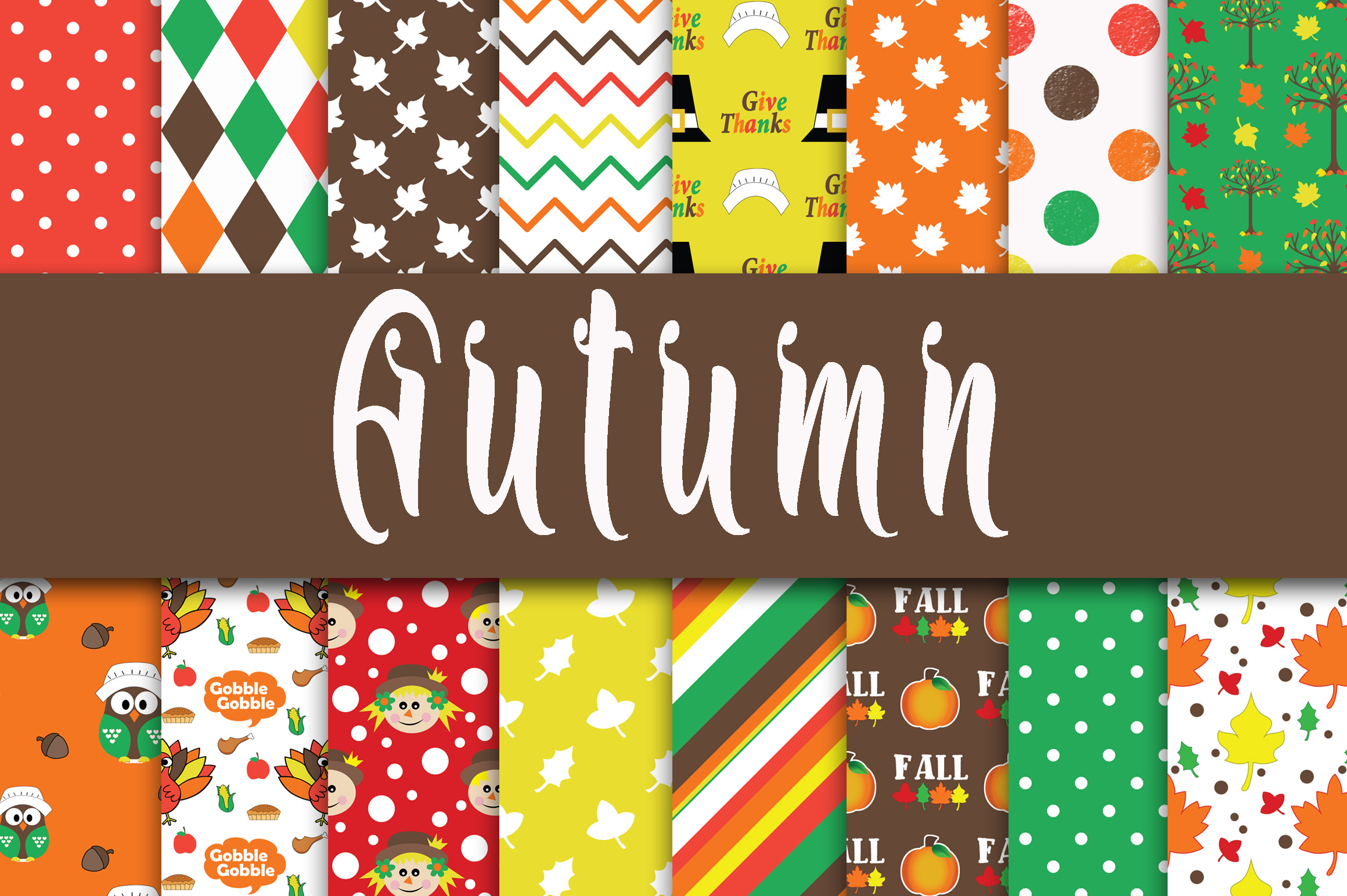 Autumn Digital Paper Graphic By oldmarketdesigns