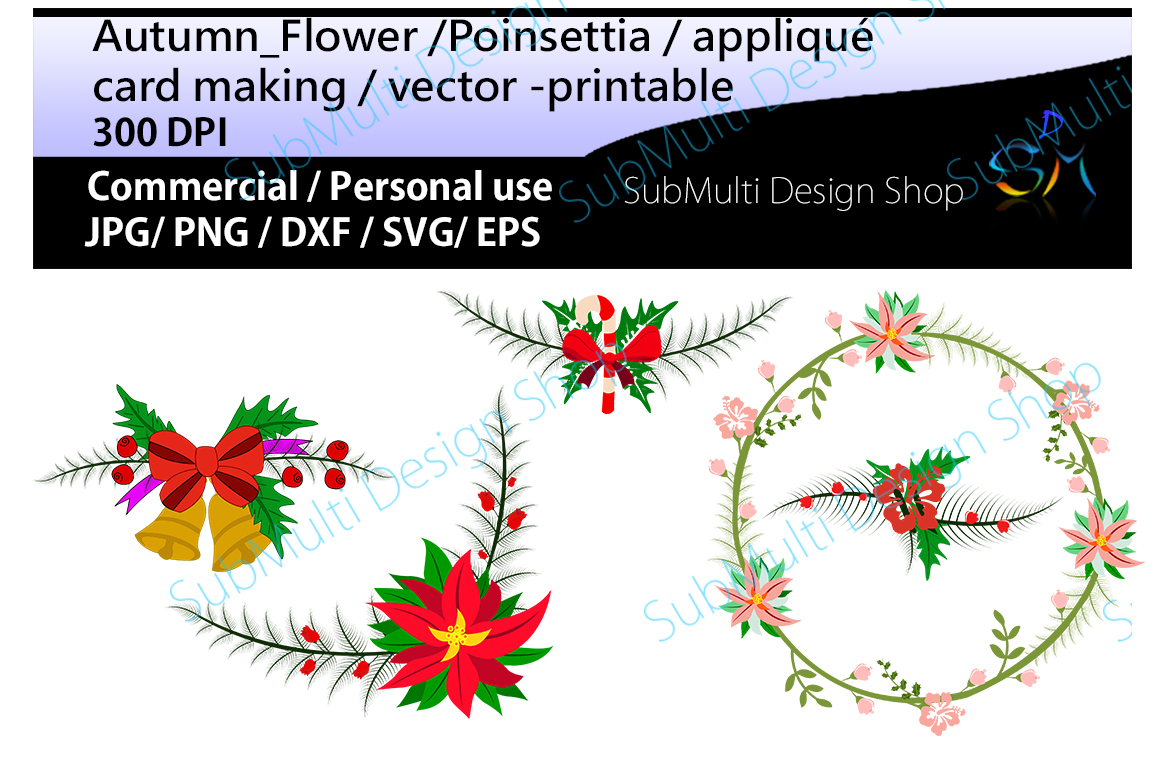 Download Free Autumn Flowers Clip Art Graphic By Arcs Multidesigns Creative for Cricut Explore, Silhouette and other cutting machines.