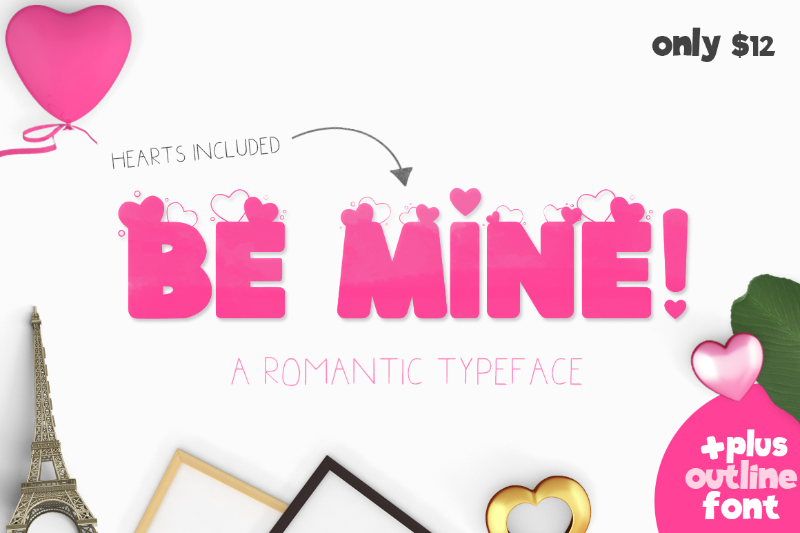 Print on Demand: Be Mine Sans Serif Font By Salt & Pepper Designs