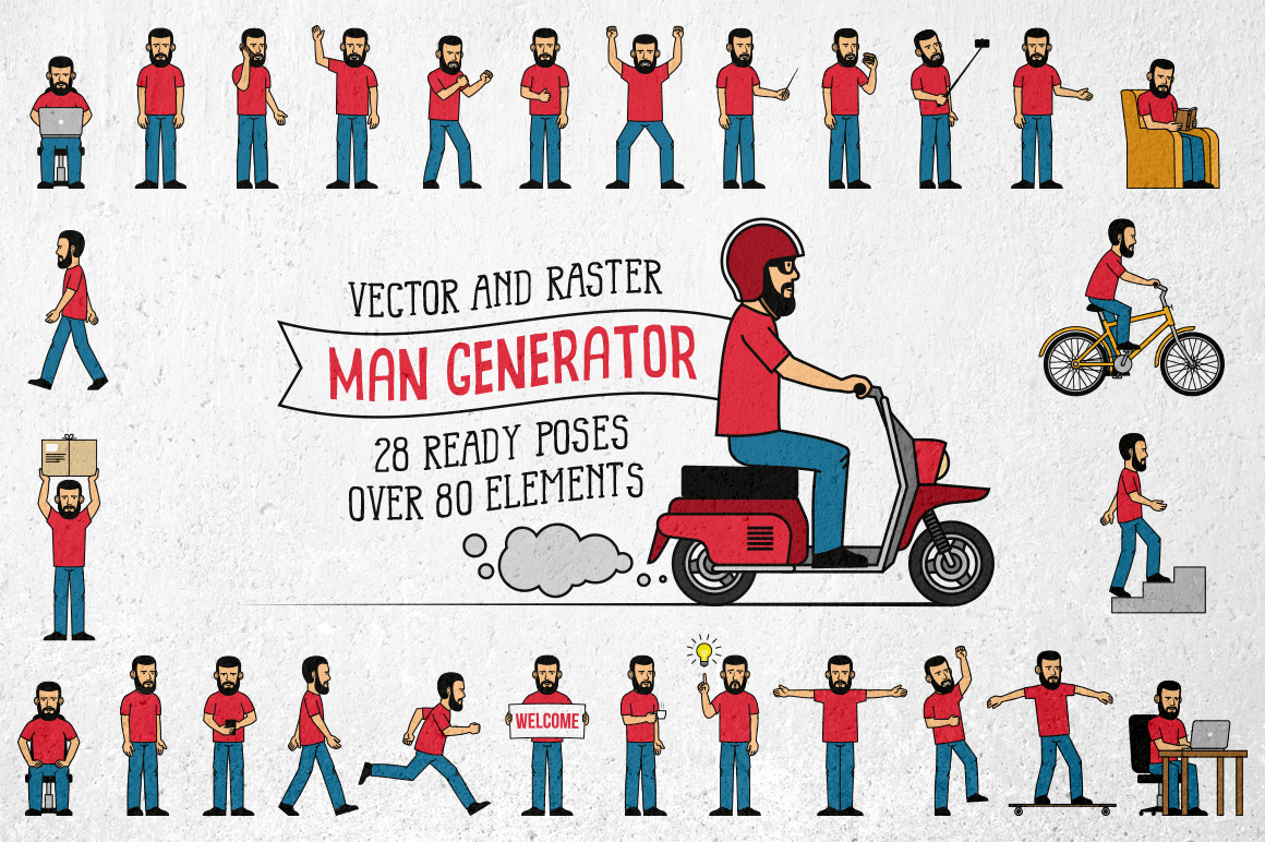 Bearded Man Generator Graphic By Agor2012