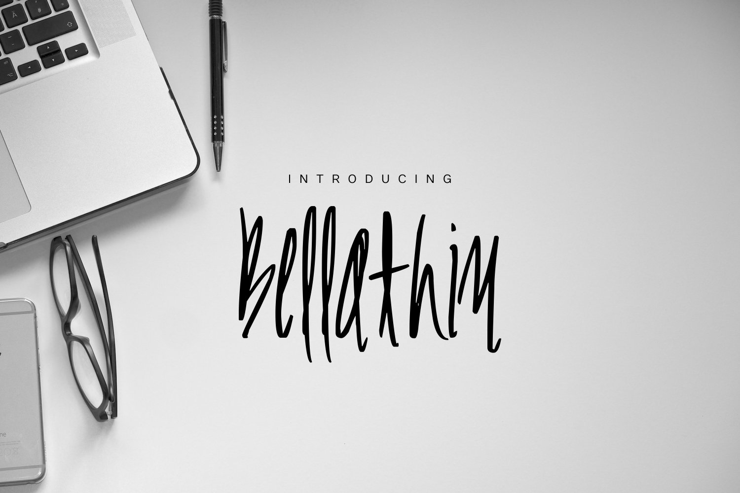 Print on Demand: Bellathin Display Font By Marcelo Inez