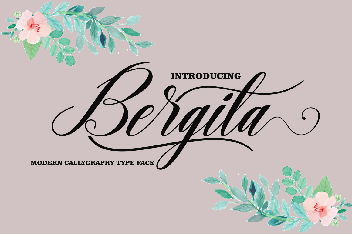 Print on Demand: Bergita Script & Handwritten Font By AsaharStudio