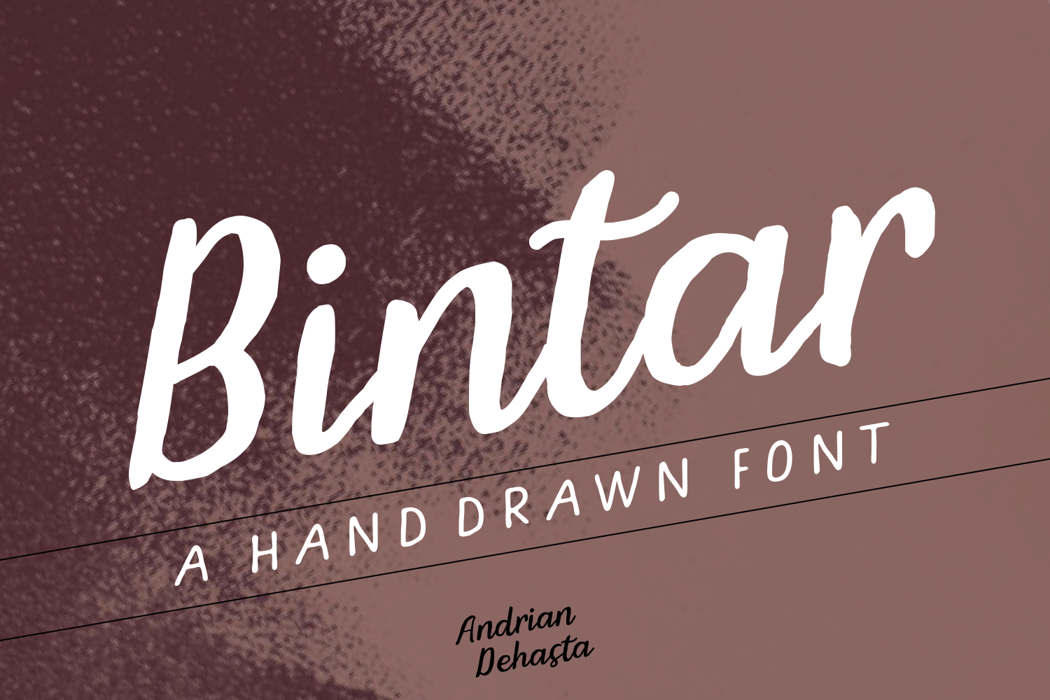 Print on Demand: Bintar Script & Handwritten Font By Andrian Dehasta