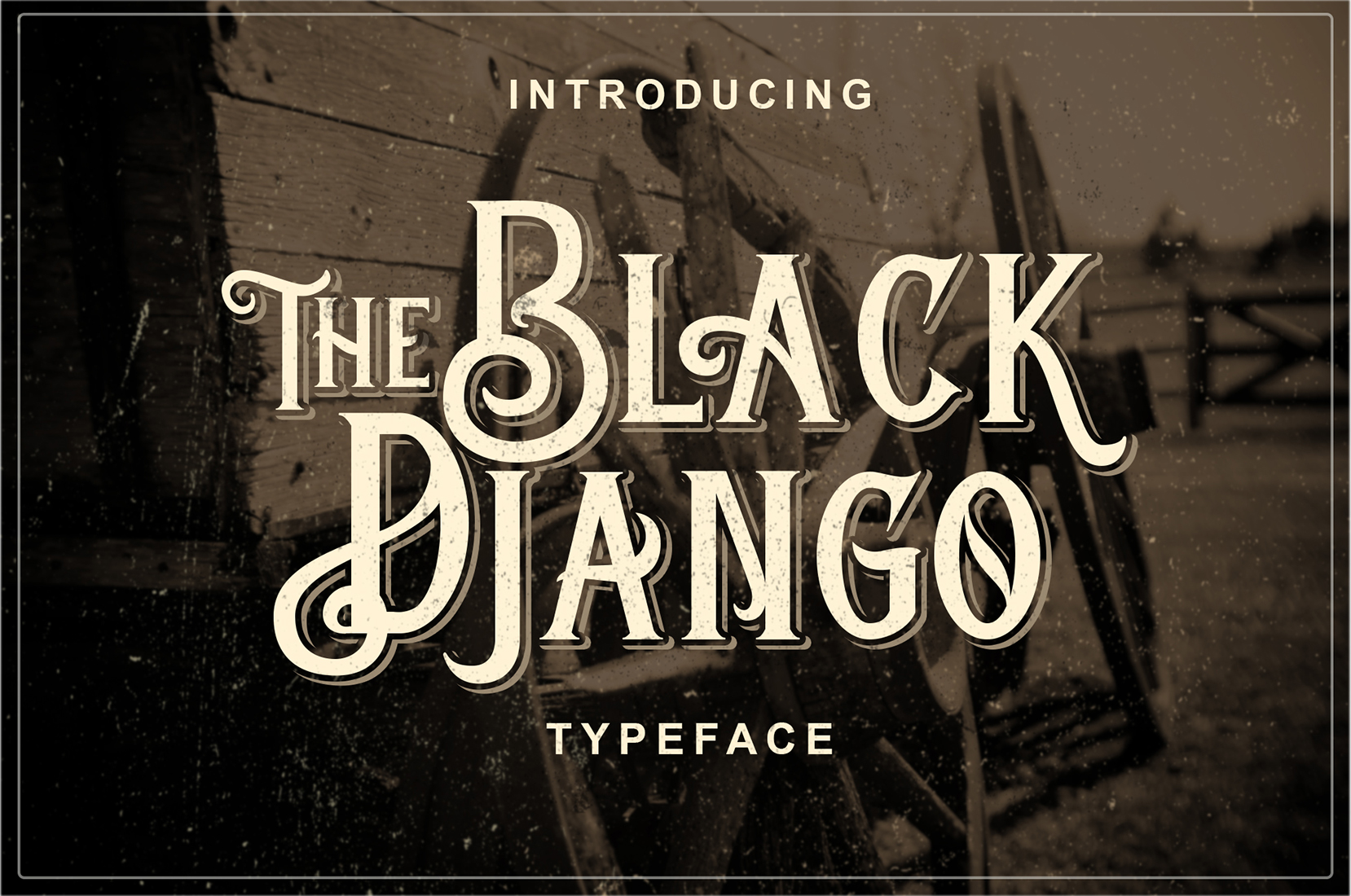 Print on Demand: Black Django Display Font By Blankids Studio