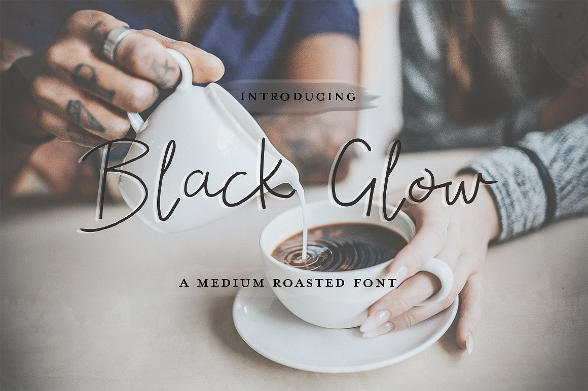 Print on Demand: Black Glow Script & Handwritten Font By Salt & Pepper Designs
