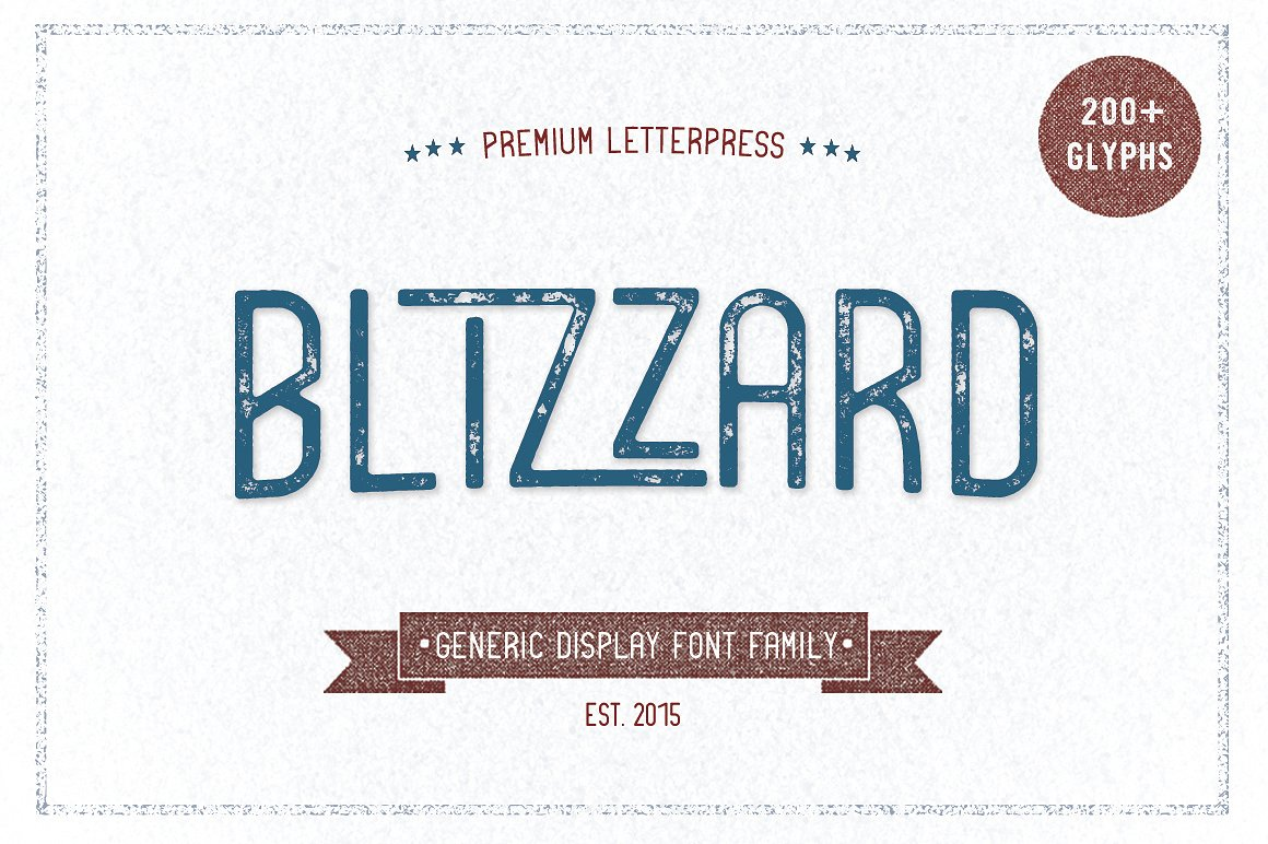 Print on Demand: Blizzard Display Font By Jokiranta