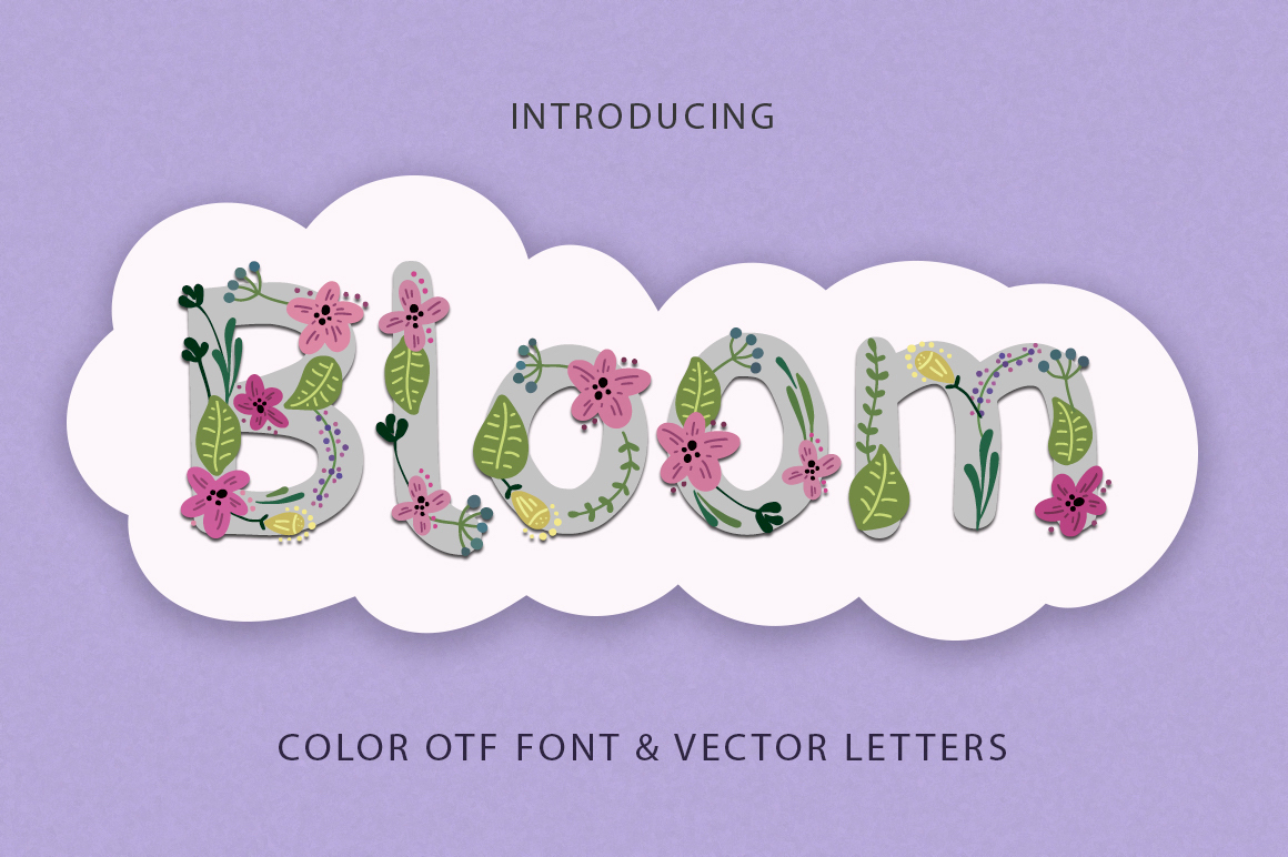Print on Demand: Bloom Display Schriftarten von Red Ink