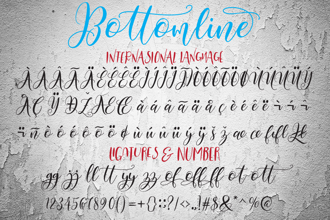 Print on Demand: Bottomline Script & Handwritten Font By YanIndesign - Image 9