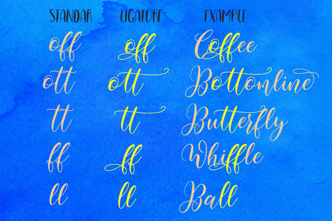 Print on Demand: Bottomline Script & Handwritten Font By YanIndesign - Image 10