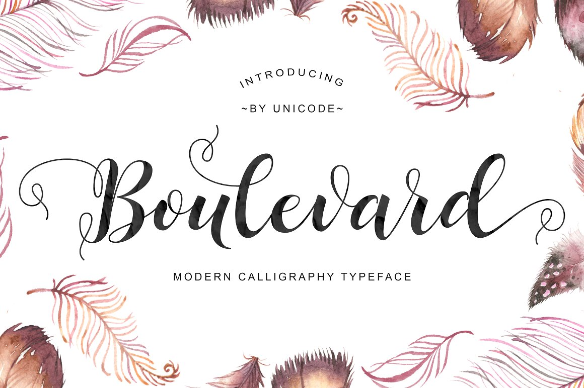 Print on Demand: Boulevard Script Script & Handwritten Font By Unicode Studio