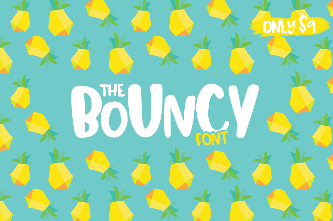 Print on Demand: Bouncy Display Font By Salt & Pepper Designs
