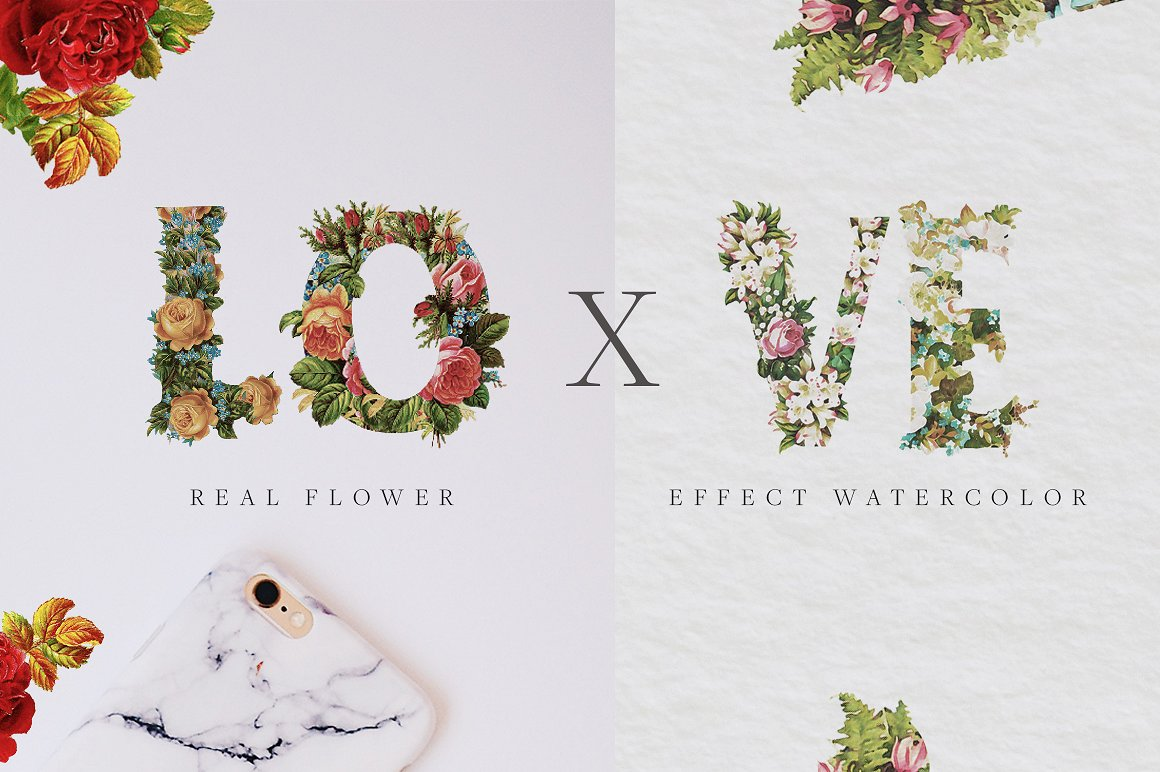 Bouqet Flower & Water Color Graphic Objects By bloomxxvi - Image 4
