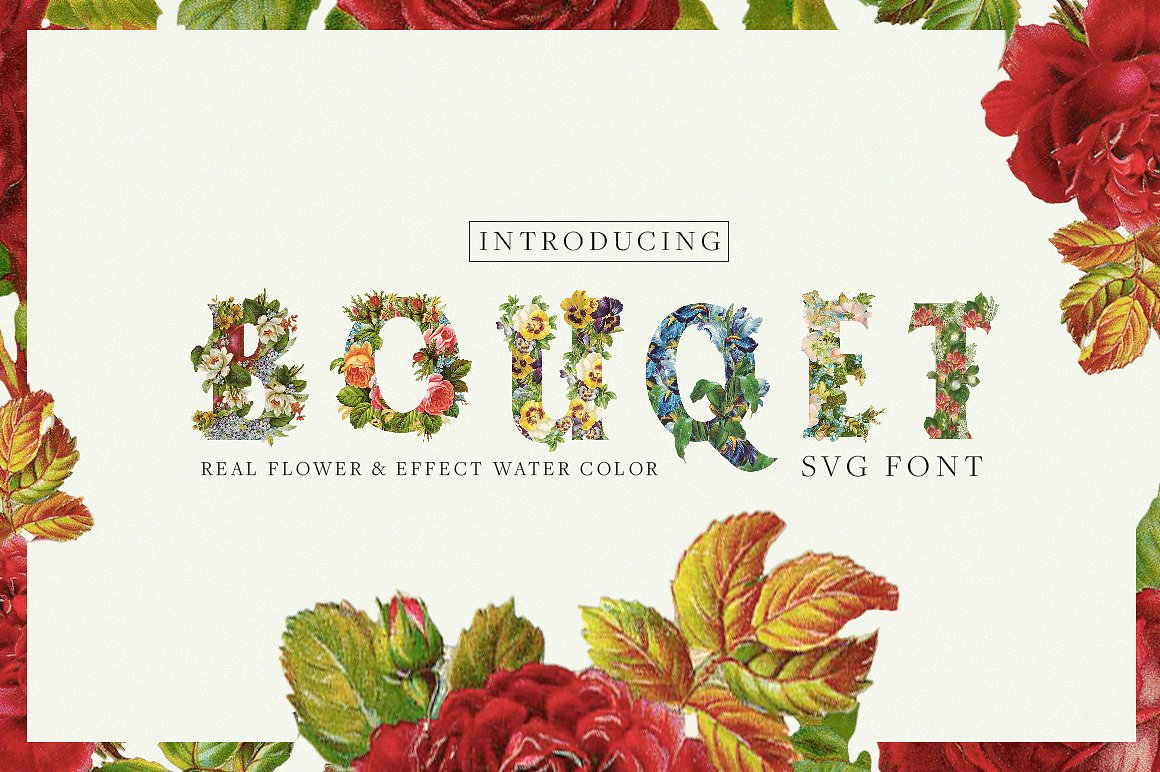 Bouqet Flower & Water Color Graphic Objects By bloomxxvi