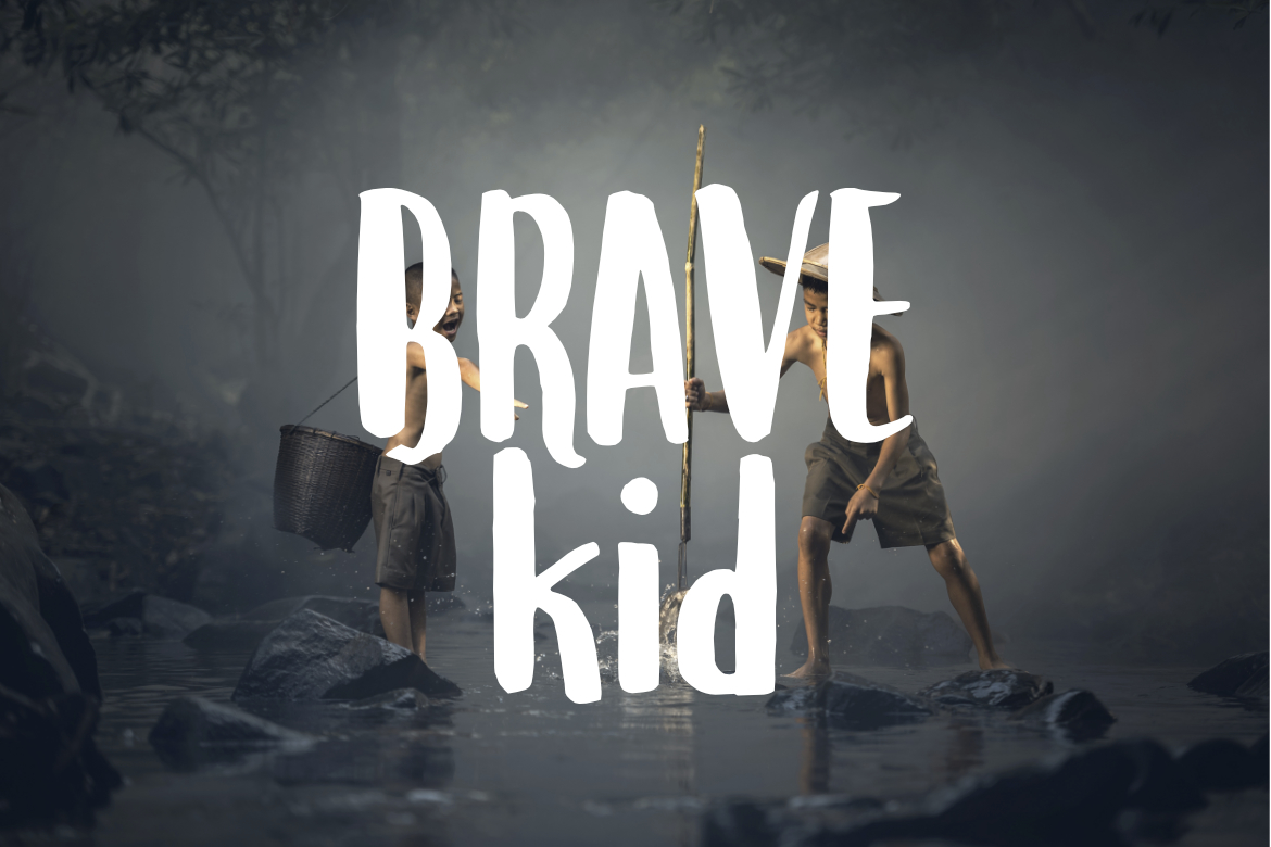 Print on Demand: Brave Kid Display Font By LebahStudio - Image 1