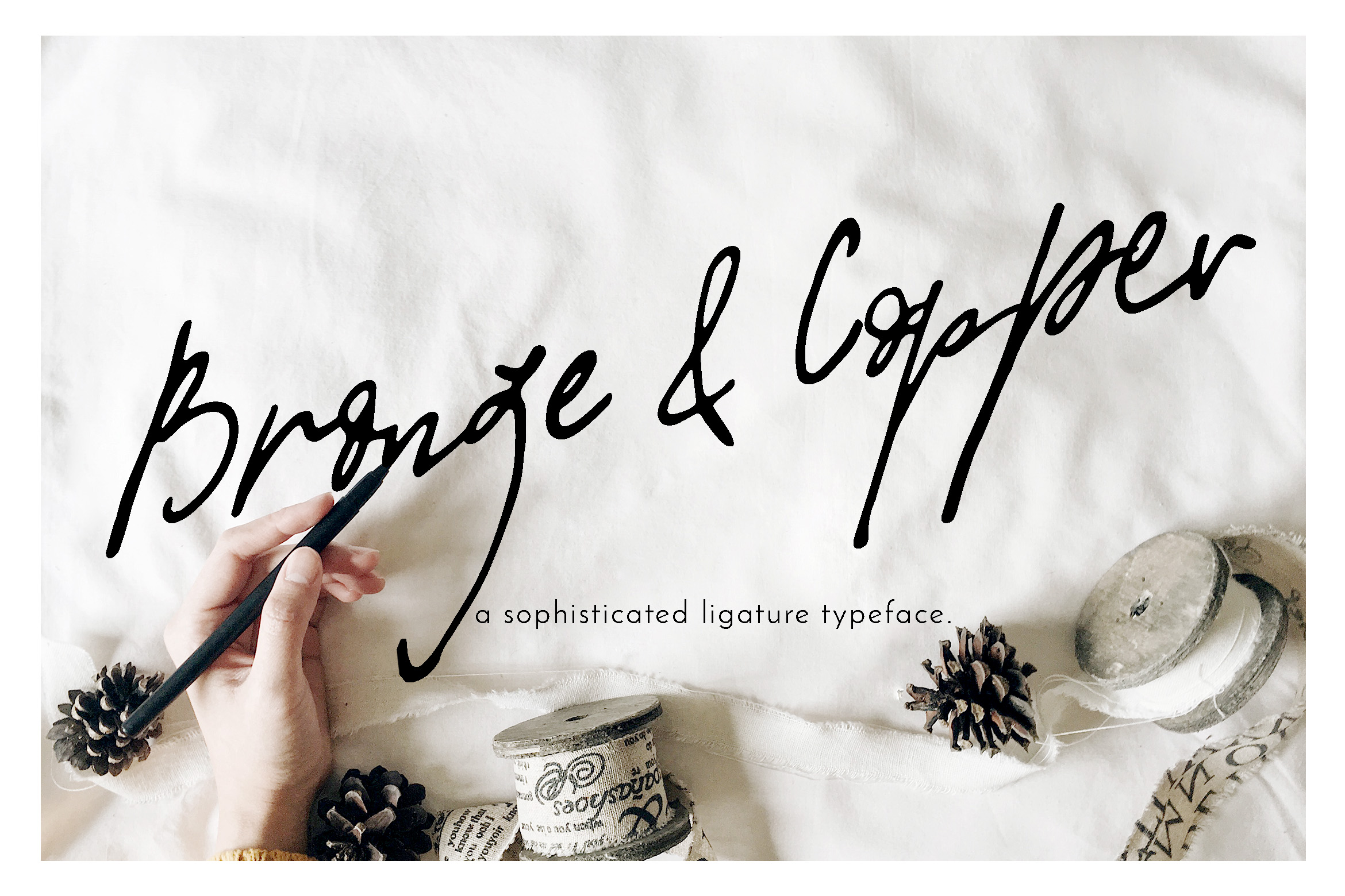 Print on Demand: Bronze & Copper Script & Handwritten Font By Blue Robin Design Shop