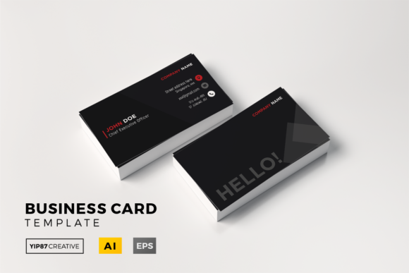 ceo business card fancy black graphics - Ceo Business Card