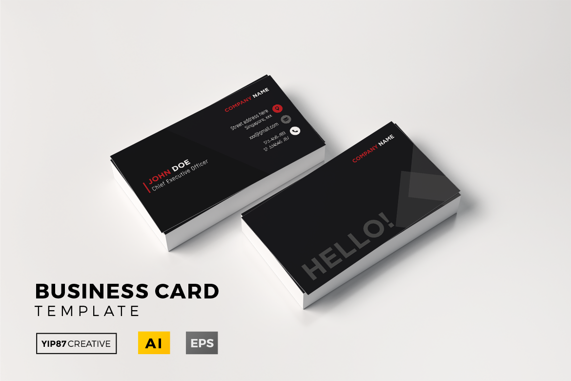 CEO Business Card - Fancy Black Graphic by yip87 - Creative Fabrica