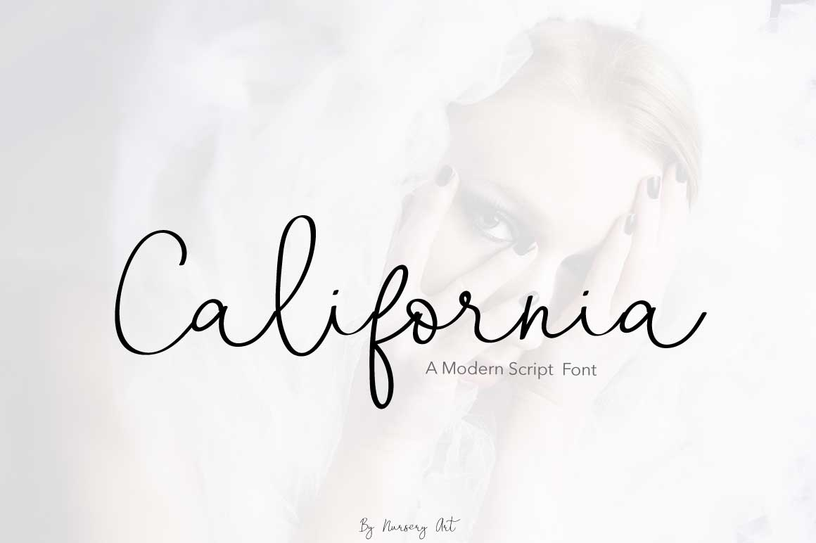 Print on Demand: California Script & Handwritten Font By PaulaType