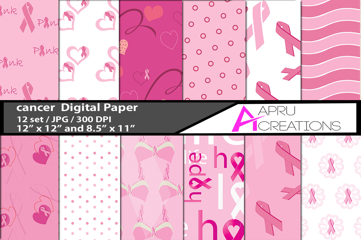 Cancer Awareness Digital Papers Graphic By aparnastjp