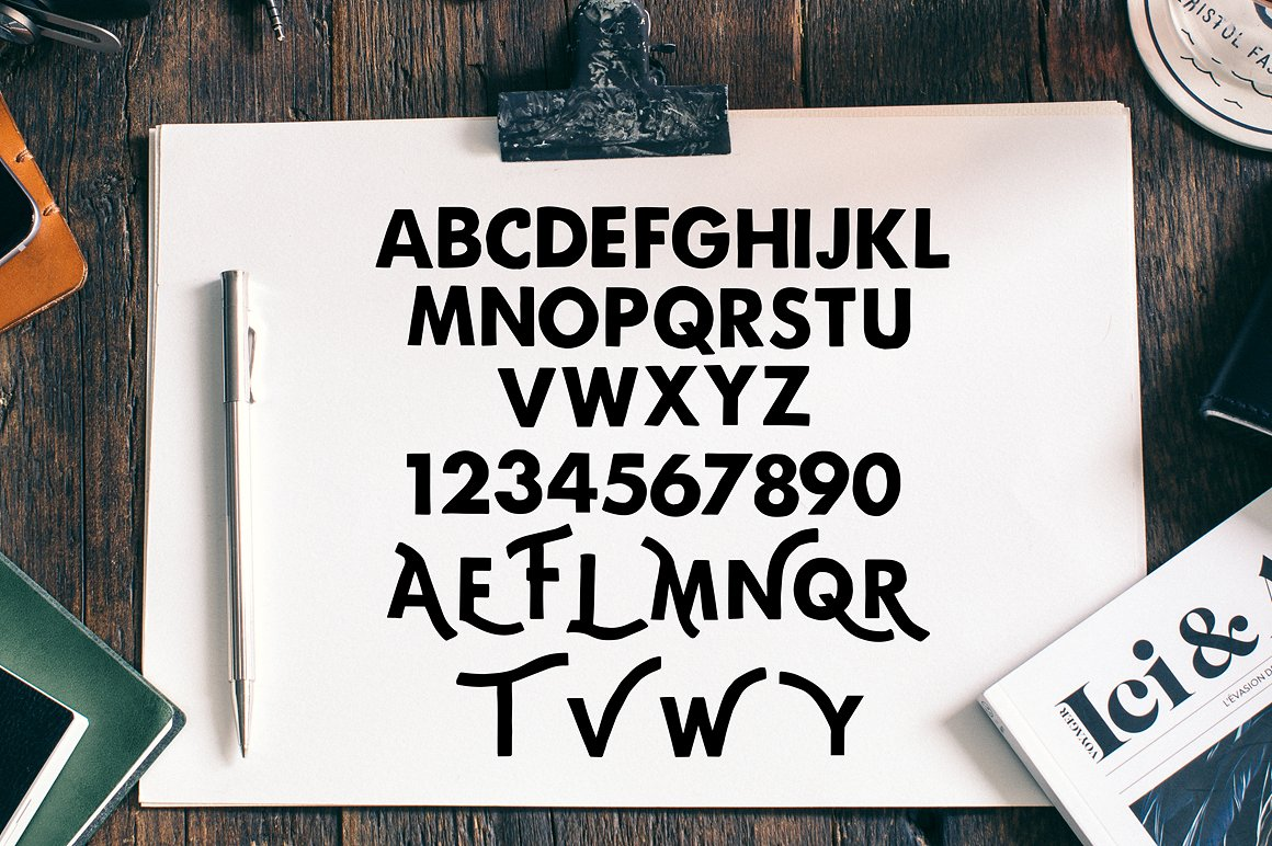 Print on Demand: Carbon Display Font By bloomxxvi