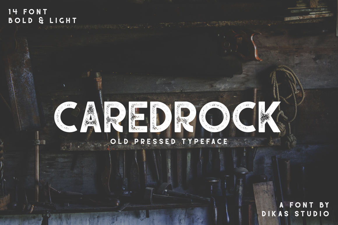 Caredrock Display Font By Dikas Studio