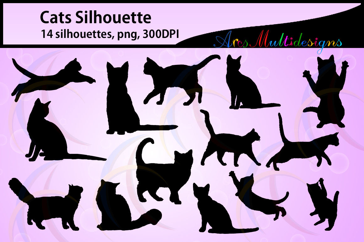 Print on Demand: Cat Silhouette Graphic Crafts By Arcs Multidesigns