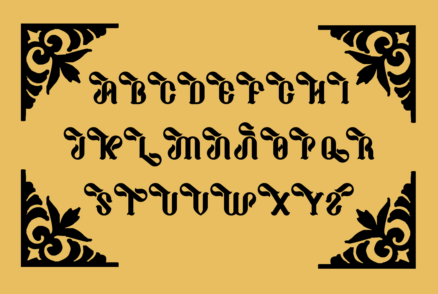 Print on Demand: Cathaline Blackletter Font By TypEra - Image 2