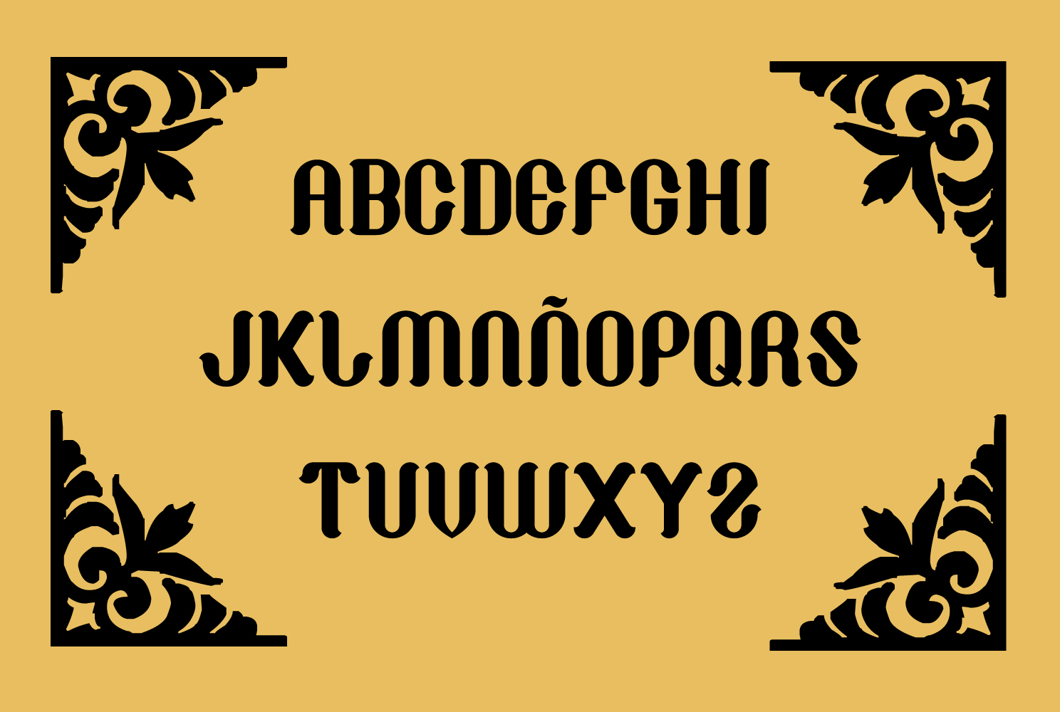 Print on Demand: Cathaline Blackletter Font By TypEra - Image 3