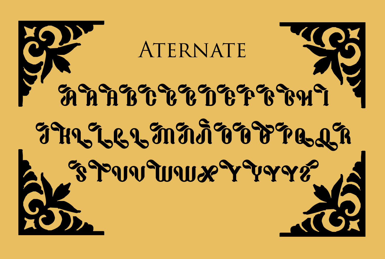 Print on Demand: Cathaline Blackletter Font By TypEra - Image 5