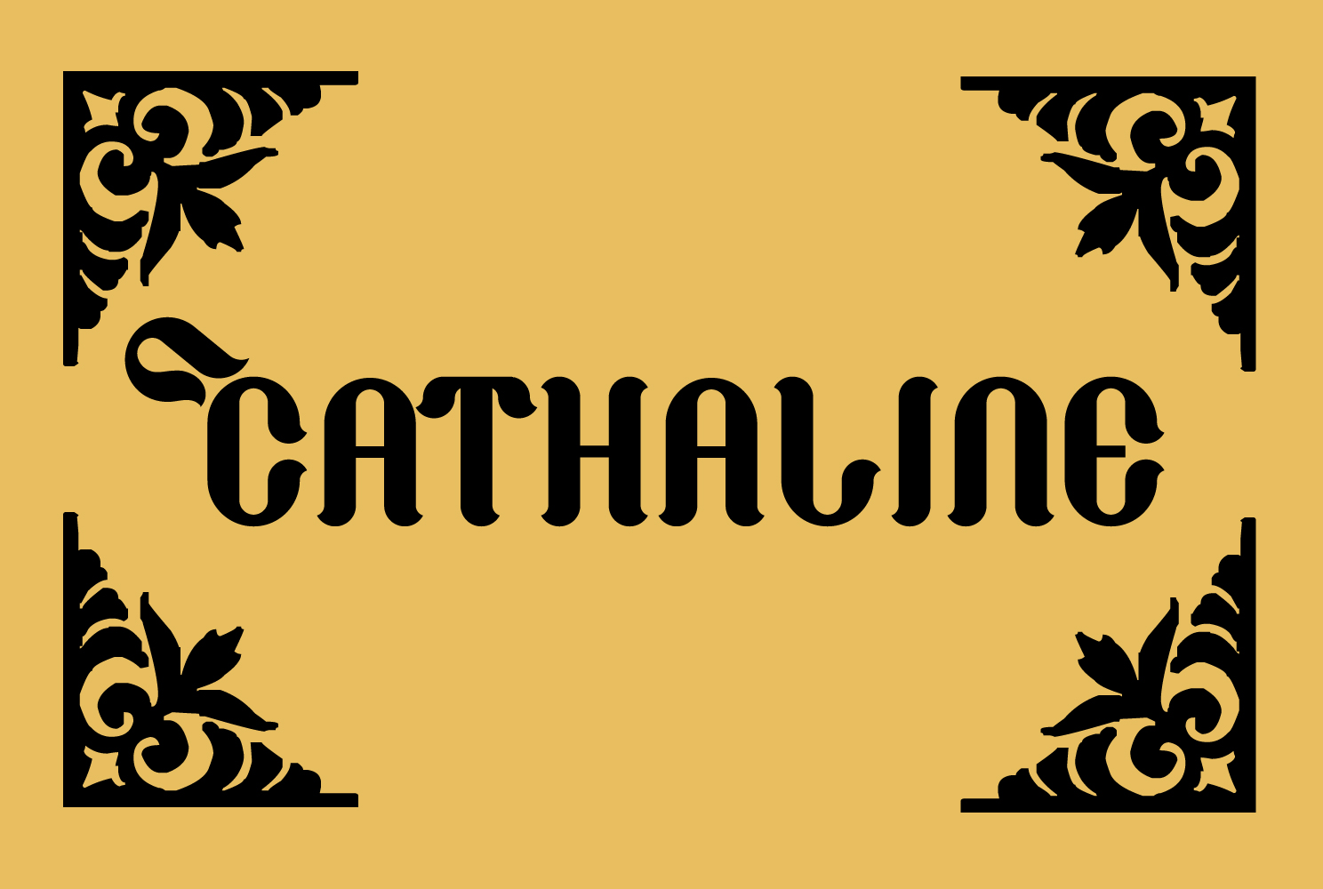 Print on Demand: Cathaline Blackletter Font By TypEra