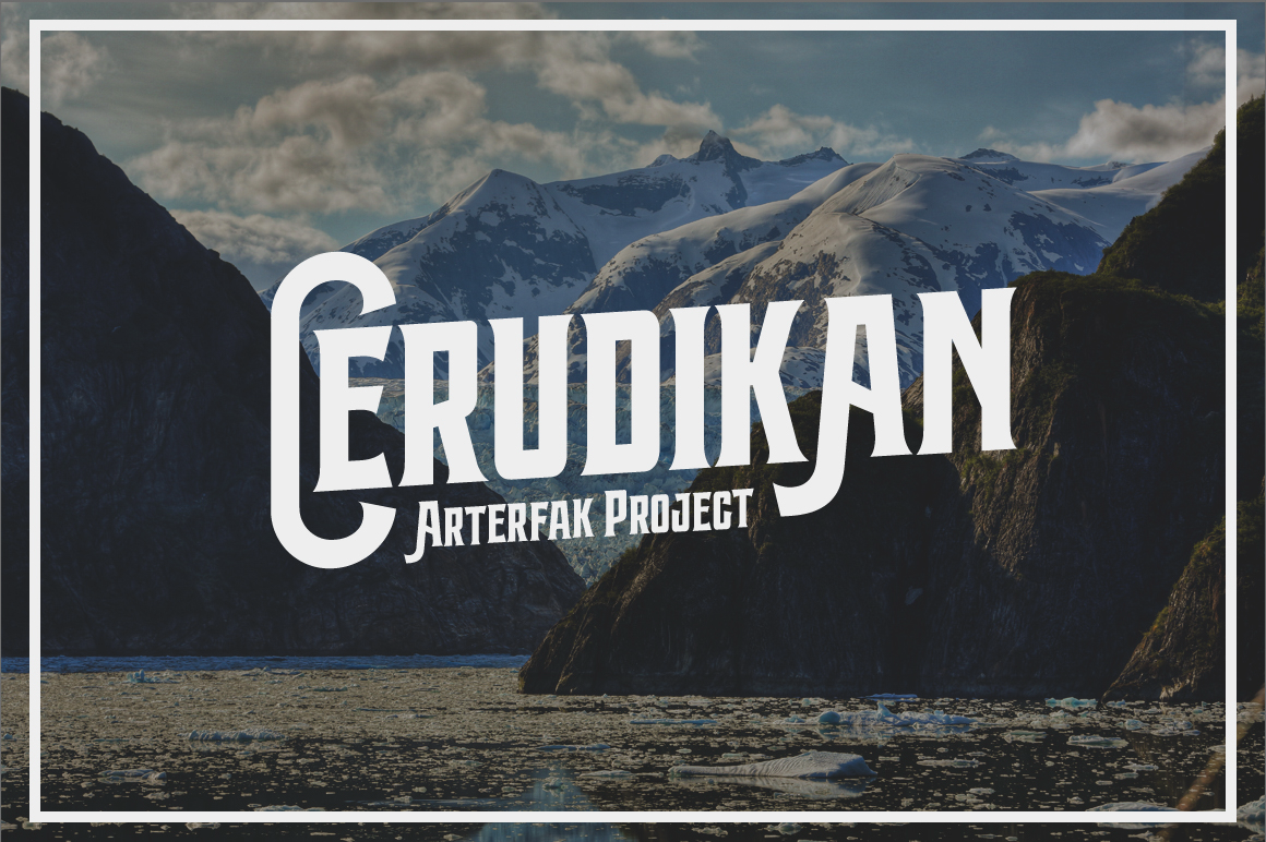 Print on Demand: Cerudikan Display Font By Arterfak Project