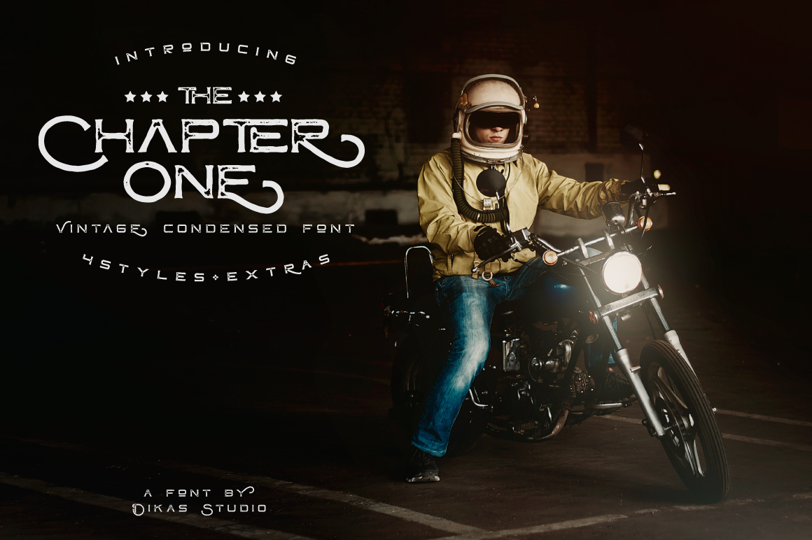 Print on Demand: ChapterOne Display Font By Dikas Studio