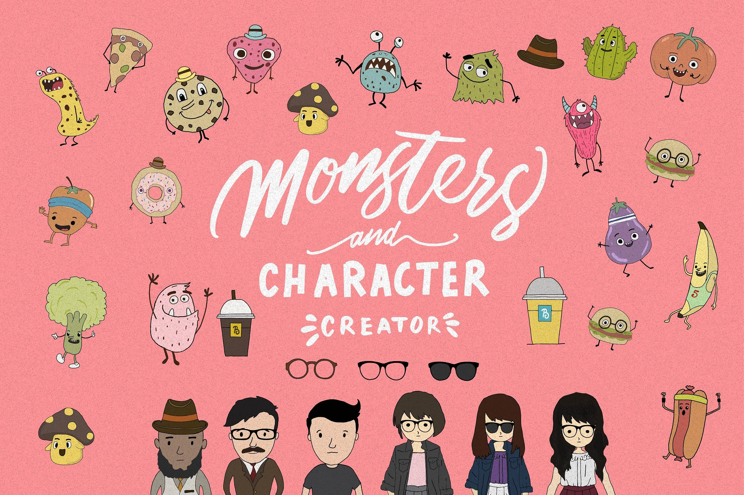 Character Pack with 50 Unique Designs Graphic Illustrations By bloomxxvi