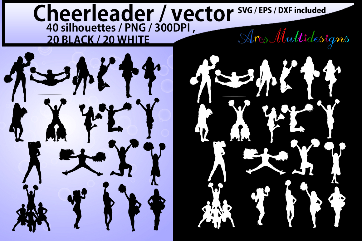 Print on Demand: Cheerleaders SVG Graphic Crafts By Arcs Multidesigns