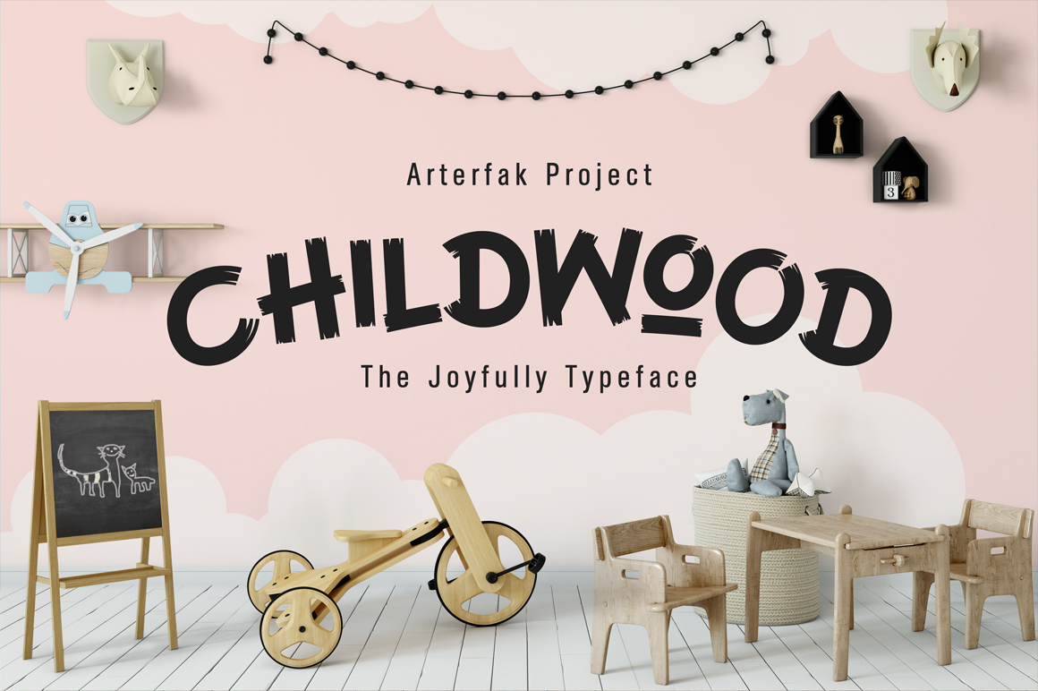 Print on Demand: Childwood Display Font By Arterfak Project