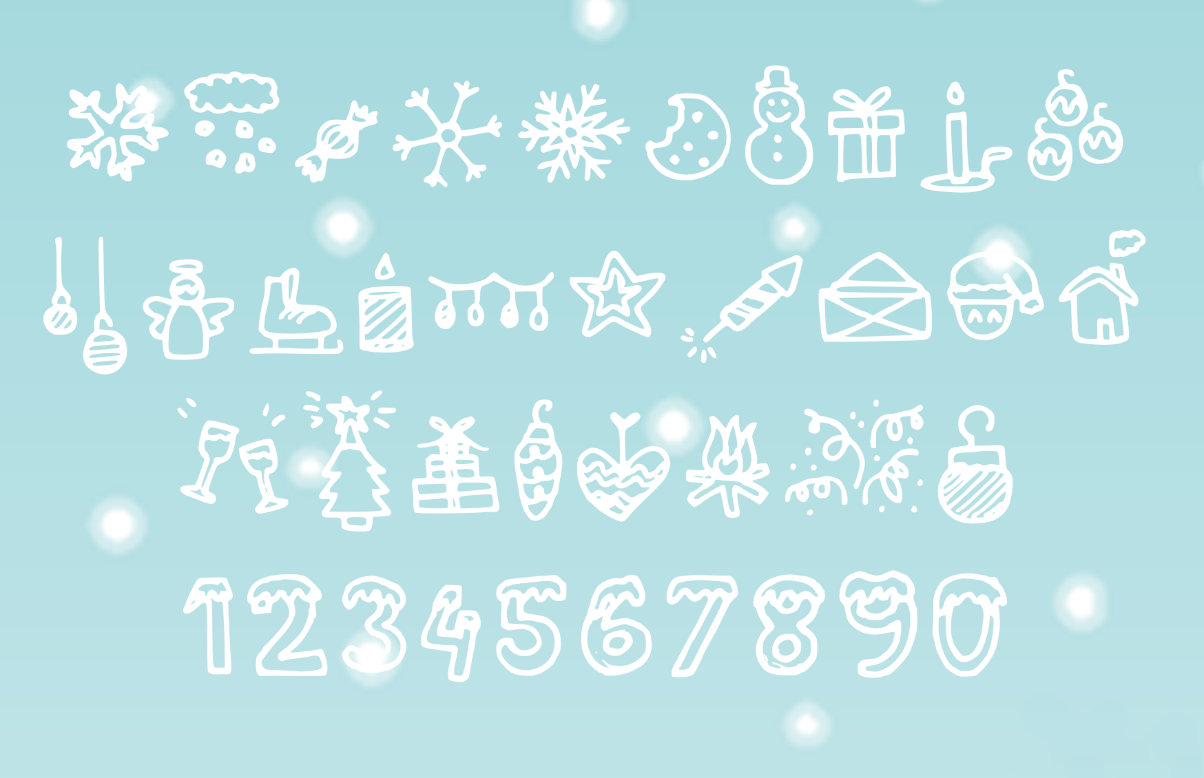 Print on Demand: Christmas Icons Dingbats Font By studiomies