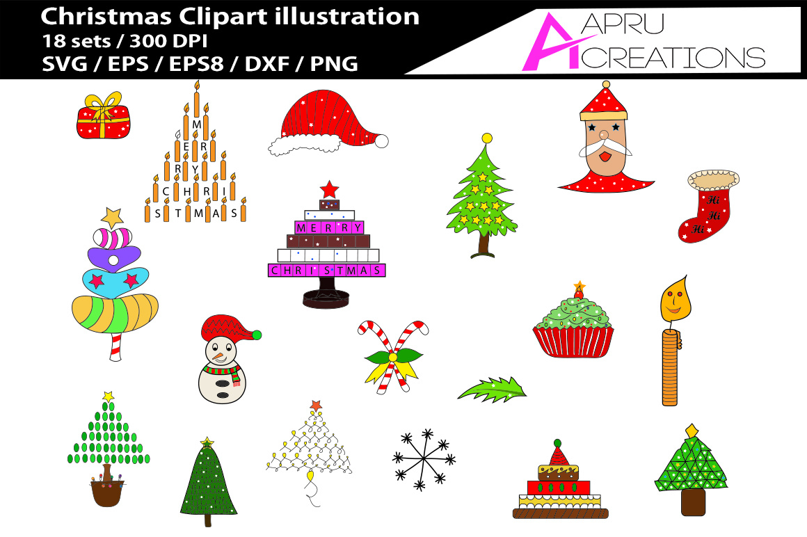 Christmas SVG Clip Art Graphic By aparnastjp
