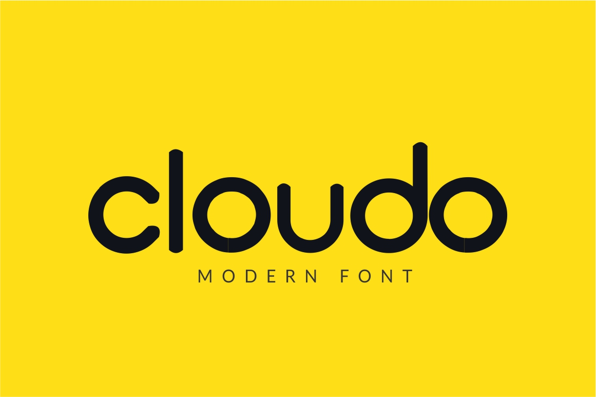 Cloudo Sans Serif Font By No Gravity Type